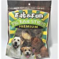 Recompense pentru caini, Eat&Fun, Pig Ear Strips
