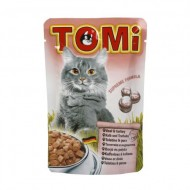 Hrana umeda pentru pisici, Tomi, Vitel si Curcan, plic 100 g