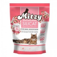 Nisip silicatic pentru pisici, Mitzy, Silicat, Floral, 3.8 L