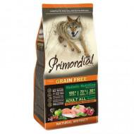 Hrana uscata pentru caini, Primordial, Grain-Free Adult Pui si Somon, 12 kg