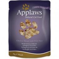 Hrana umeda pentru pisici, Applaws, Piept de Pui cu Orez Salbatic, 12x70 g