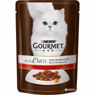 Hrana umeda pentru pisici, Gourmet A La Carte, Vită şi Legume, 24 X 85g