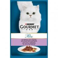 Hrana umeda pentru pisici, Gourmet Perle, Vanat si Legume in sos, 85g