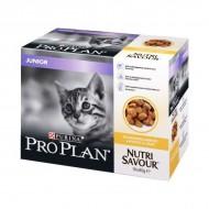 Hrana umeda pentru pisici, Pro Plan, Junior Nutrisavour, 10x85g