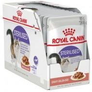 Hrana umeda pentru pisici, Royal Canin, Sterilised in Gravy, 12 buc x 85g
