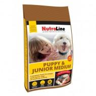 Hrana uscata pentru caini, Nutraline, Dog Puppy&Junior Mediu, 12.5 Kg