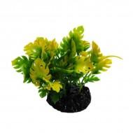 Plante plastic acvariu, Resun, Big Leaf Green/Yellow, 10 CM