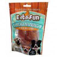 Recompense pentru caini, Eat&Fun, Chicken Wings, 100 G