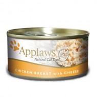 Hrana umeda pentru pisici, Applaws, Piept Pui si Branza, 156 g