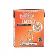 Hrana umeda caini, Platinum, Menu Turkey & Salmon, 375g