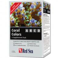Conditioner pentru apa marina, Red Sea, Coral Colors ABCD, 4x100 ml