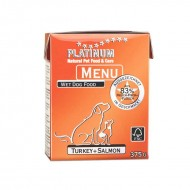 Hrana umeda caini, Platinum, Menu Turkey & Salmon, 375g