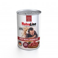 Hrana umeda pentru caini, Nutraline, Dog Adult Monoprotein Vita Ulei de In, 800 g