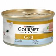 Hrana umeda pentru pisici, Gourmet Gold, Mousse de Ton, 24 X 85g