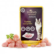 Hrana umeda pentru pisici, Nuevo, Sensitive Curcan, 85 g