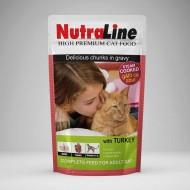Hrana umeda pentru pisici, Nutraline, Classic Curcan, 24 x 100 G