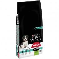 Hrana uscata pentru caini, Pro Plan, Medium Puppy Sensitive Digestion, 12 Kg