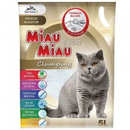 Nisip pentru pisici, Miau-Miau, Silicat Clumping, 5L