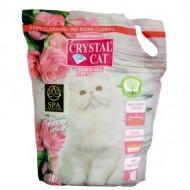 Nisip silicatic pentru pisici, Crystal Cat, Trandafir, 7,6 L