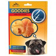 Recompense pentru caini, 4Dog, Goodies Rabbit Ear & Chicken, 100G