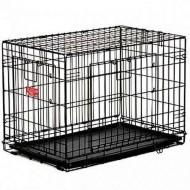 Cusca metalica pentru caini, Midwesthome, Contour 830DD, 76 CM