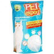 Nisip silicatic pentru pisici, Pet Expert, Silicat 7.6 L