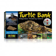 "Decor terariu, Exo Terra, Turtle Bank Medium, 29.8 x 17.8 x 5.4 cm (11.73"" x 7.01"" x 2.13""), PT3801"