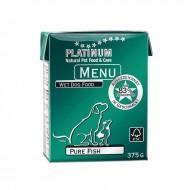Hrana umeda caini, Platinum, Menu Pure Fish, 375g