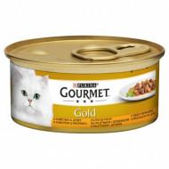 Hrana umeda pentru pisici, Gourmet Gold cu pui și ficat în sos, 24 x 85g