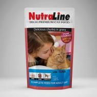 Hrana umeda pentru pisici, Nutraline, Classic Ton, 24 x 100 g