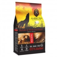 Hrana uscata pentru caini, Ambrosia Grain Free, Adult Macrou si Bivol, 12 Kg