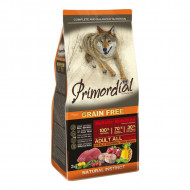 Hrana uscata pentru caini, Primordial, Grain-Free Adult Macrou si Bivol, 12 Kg