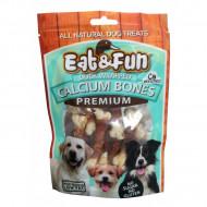 Recompense pentru caini, Eat&Fun, Duck Calcium Bones, 100 G