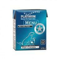 Hrana umeda caini, Platinum, Menu Fish & Chicken, 375g