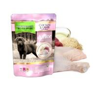 Hrana umeda pentru caini, Natures Menu, Junior cu Pui  si Miel, 300g