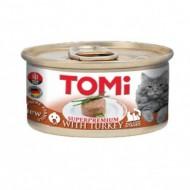 Hrana umeda pentru pisici, Tomi, Curcan, SuperPremium, 12 x 85 G
