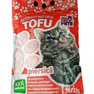 Asternut igienic pentru pisici, Mon Petit Ami Tofu Piersica, 5 L