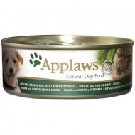 Hrana umeda pentru caini, Applaws Pui, Vita si vegetale 156 g