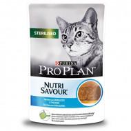Hrana umeda pentru pisici, Pro Plan Nutri Savor Sterilizată Terină cu Cod, 85g