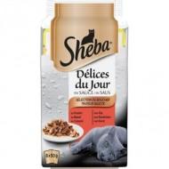 Hrana umeda pentru pisici, Sheba, Delices Du Jour, Selectii de Pui/Vita/Rata, 6 x 50g