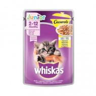 Hrana umeda pentru pisici, Whiskas Casserole Junior, Pui in Aspic, 85G