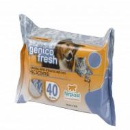 Servetele umede pentru caini, Ferplast, Genico Fresh Talc - 40 Buc