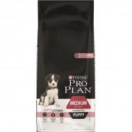 Hrana uscata pentru caini, Pro Plan, Medium Puppy Sensitive Skin, 12 kg