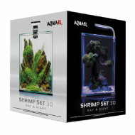 Acvariu, Aquael Shrimp Smart Day & Night, 30 L, Negru