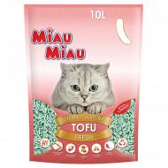 Asternut igienic pentru pisici, Miau Miau, Tofu, Fresh 10L