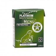 Hrana umeda caini, Platinum, Menu Chicken, 375g