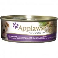 Hrana umeda pentru caini, Applaws, Pui, Vegetale 156 g
