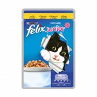 Hrana umeda pentru pisici, Felix Junior Fantastic Pui în Aspic, 20 x 100g