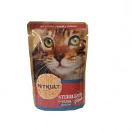 Hrana umeda pentru pisici, Petkult Cat, Sterilised cu Ton, 100G
