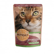 Hrana umeda pentru pisici, Petkult Cat, Sterilizat cu Rata, 100G